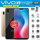 New & Sealed Factory Unlocked Vivo V9 Full View Display Black Gold Android Phone