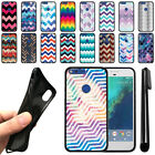 "For Google Pixel XL 5.5"" HTC Chevron Design TPU SILICONE Case Cover + Pen"