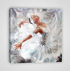Cute Ballerina Dancing Framed Canvas Print -  YC38