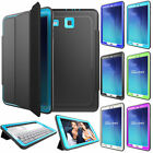 """Smart Magnetic Leather Stand ShockProof Case Lot For Samsung Galaxy Tab E 9.6"""""""