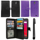 For ZTE Prestige 2 N9136 2017 Card Holder Wallet Cover Case Wrist Strap + Pen
