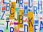 License Plate Letters and Numbers for Craft Projects