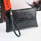 Women's Crocodile Leather Clutch Handbag Bag Fashion Coin Purse Bag Wallets