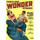 Vintage Repro Sci Fi Poster Thrilling Wonder Stories Fury From Lilliput Cover $16.99 USD on eBay