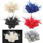 Flower Bow Feather Elegant Top Hat Fascinator Clip On Ladies Day Party Race
