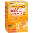 Emergen-C 1,000 mg Vitamin C Drink Mix Packets Tangerine, 10 Count, Exp 12/19