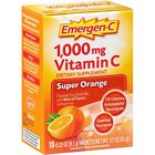 Emergen-C 1,000 mg Vitamin C Drink Mix Packets Super Orange, 10 Count, Exp 05/19