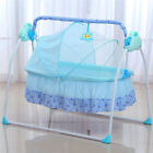 Electric Auto-Swing Big Bed Baby Cradle Space Safe Crib Infant Rocker Cot + Mat