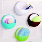 High Quality Plastic Suction Cup Soap Box Holder Bathroom Kitchen Accessories