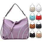 Ladies Designer Faux Leather Diamante Striped Handbag Shoulder Bag A34264