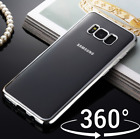 ShockProof 360 Hybrid Chrome Case With Glass Front For Samsung Galaxy S8 S9 PLUS