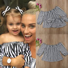 Family Matching Clothes Mother And Daughter Girl Blouse Off Shoulder Top