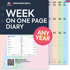 2019 Week on one page diary FILOFAX A5 / PERSONAL Compatible Refill insert