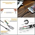 Lightning Cables 3 6 & 10 ft. USB Lightning iPhone Charger Cord Compatible 3 Pcs
