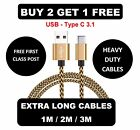 FOR Sony Xperia L1 L2/XA1 XA2 USB-C Type C Data Sync Charger Charging Cable Lead