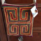 Mola Purse Hand stitched Colombia Kunas Indians Hippie Boho Art To Wear NWT🌴🌴