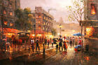 Best gift Paris Street Cityscape Oil painting Art wall Decor Printed on canvas 6