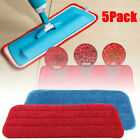 "5-pack Replacement Washable Microfiber Mop Cleaning Pads for 15"" Flat Mop Base"