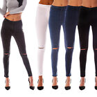 Womens Ladies Jeggings Plain/Faded/Ripped Slim Fit Skinny Jeans Denim Sizes 6-18