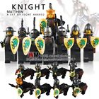Castle City Knights Soldiers Game Of Thrones fit lego Mini Figures Toys Dragon