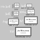 Jo Malone, Cc , Vinyl Decal / Sticker, Vase  White Background 5 Sizes Available