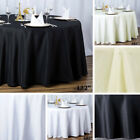 "6 ROUND 132"" Premium POLYESTER TABLECLOTHS Wedding Catering Kitchen Supplies"