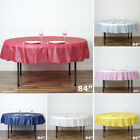 """2 pcs ROUND 84"""" Disposable Plastic Tablecloth Table Cover Affordable Wholesale"""