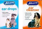 Johnsons Ear Drops or Cleanser for Cats & Dogs Kills Ear Mites - Softens Wax