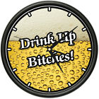 BEER TIME Wall Clock drink alcohol happy hour funny gift