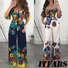 USA Women Off Shoulder Clubwear Summer Playsuit Bodycon Jumpsuit Romper Trousers