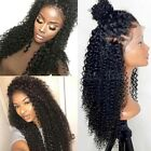 Pre Plucked 360 Lace Frontal Wig 1B Peruvian Virgin Human Hair Curly Full Wig Ht