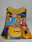 Depicable Me Minions Boys Flannel Pajama Set Size 4/5 NEW