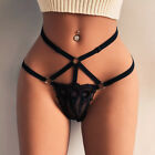 Women Sexy T-Back Underwear Lace Pearl G-String Panties Briefs Lingerie Thongs