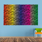 Personalised Rainbow Words Festival Design Banner Music Gig Party Night 4 Sizes