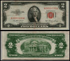 1953 $2 DOLLAR  US NOTE LEGAL TENDER PAPER MONEY CURRENCY RED SEAL LT-E69