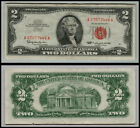 1963 $2 DOLLAR US NOTE LEGAL TENDER PAPER MONEY CURRENCY RED SEAL LT 0666