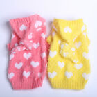Small Dog Cat Hearts Sweater Jumper Pet Puppy Hoodie Coat Jacket Warm Clothes