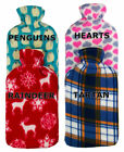 Large Hot Water Bottle Quality Hot Water Bottles With Printed Fleece Covers