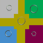 925 Sterling Silver Small 10mm-16mm With disign Hoop Sleeper Earrings (pair)