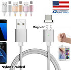Magnetic Nylon 2A Strong Braided Micro USB Cable for Samsung S7 S6 S4 2016 A5 A7
