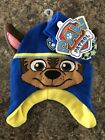 Nickeloden PAW Patrol Chase Toddler Boys Winter Hat & Gloves Set NWT Blue