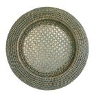 Single Round Woven Grey Rattan Wicker Underplate Placemats Charger