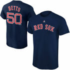 Youth Boston Red Sox Mookie Betts Majestic Navy Blue Jersey T Shirt