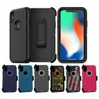 For Apple iPhone X Defender Case Shockproof Dirtproof Cover w/ Screen Protector