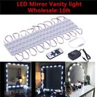 100FT Dressing Mirror Lighted Cosmetic Makeup Vanity LED Light Remote Power# WN