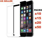 Apple iPhone 8/7/6/6s/7+/8+ LOT 3D Full Coverage Tempered Glass Interview Protector