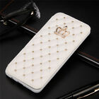 Bling Diamond Case PU Leather Stand Cover for Samsung S5 S6 S7 Edge S8 S9 Plus