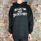 Thrasher Skate and Destroy Pullover Hooded Sweatshirt – Black in size XL