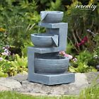 Serenity Garden Cascading Water Feature LED Lights Outdoor Indoor 3Tier Ornament