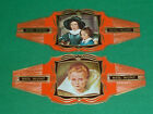 Nederlandsche Munt Cigar Bands x 2 Series Portraits No 41 & 44 (Large Model)